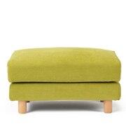 棉雪尼尔/羽毛独立式樽型弹簧搁脚凳用沙发套 绿色