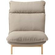 高靠背可伸缩沙发 / 1座 / 聚酯纤维平纹 / 灰米色