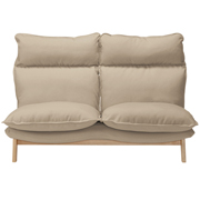 高靠背可伸缩沙发 2座 聚酯纤维平纹 宽148×长100×高93cm / 灰米色