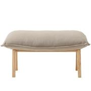 高靠背可伸缩沙发 搁脚凳 聚酯纤维平纹 宽68.5×长43×高38cm / 灰米色