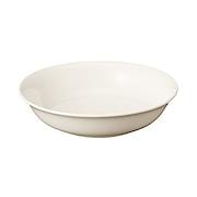 米色瓷钵 中 约直径19×高4.5cm / 本白色