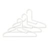 PP洗涤用衣架・衬衫用 3个装 约宽33cm