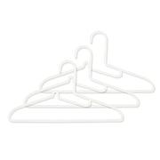 PP洗涤用衣架・衬衫用 3个装 约宽41cm