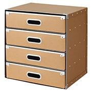 硬纸板柜/抽屉式/4层 约长37×宽27.5×高37cm