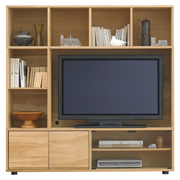组合式边柜 / C套装 /橡木 / 长162.5×宽39.5×高164.5cm
