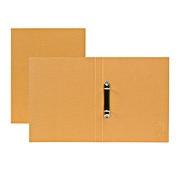 再生纸文件夹(环式) A4 2孔 / 米色