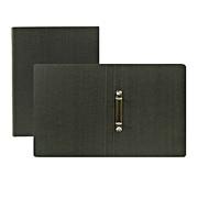 再生纸文件夹(环式) A4 2孔 / 深灰色