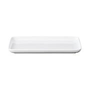 白瓷方盘 22.4×12.2cm / 白色