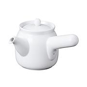 白瓷小茶壶 约直径7.5×高10cm / 白色