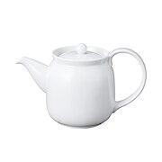 白瓷茶壶 可用于洗碗机  微波炉 约直径8.4×高12cm(直径为壶体测量,不包含壶嘴和手把) / 白色