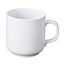 白瓷马克杯 约直径8×高8.5cm(直径为杯体测量,不含手把) / 白色