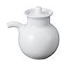 白瓷酱汁瓶 直径6.2x高8cm / 白色