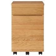 书桌橱柜(抽屉2层) / 橡木 / 宽35×深48×高56cm