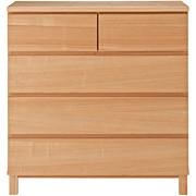 白橡木收纳柜 / 4层 / 宽体 / 宽80×深40×高83cm