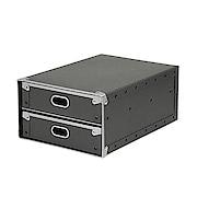 硬质纸盒 抽屉式 黑25.5×36×16cm