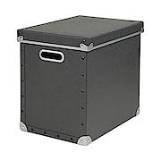 硬质纸盒 附盖 黑25.5×36×32cm