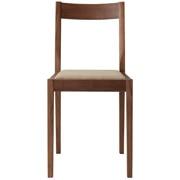 胡桃木椅子 棉平织 宽38×深48.5×高79cm / 米色