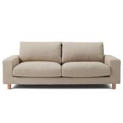 棉平织沙发主体宽扶手2.5人座用沙发套/米色