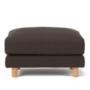 棉平织沙发主体搁脚凳大用沙发套/深棕色