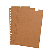 再生纸索引 A5 20孔 / 米色