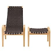 休闲椅 / 搁脚凳套组 / 棕色 / 宽62×深83×高101.5cm