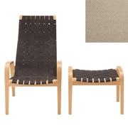休闲椅 / 搁脚凳套组 / 灰米色 / 宽62×深83×高101.5cm