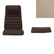 休闲椅 / 搁脚凳坐垫 / 聚酯纤维平织 / 米灰色
