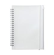 PP封皮双环笔记本 附袋 本文A5 白 90枚 点状 / 白色