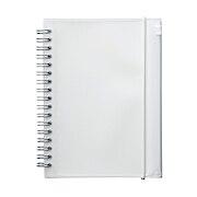 PP封皮双环笔记本 附袋 本文B6 白 90枚 点状 / 白色