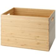 重叠的竹木材长方形箱 / 约宽37×深26×高24cm