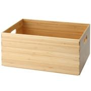 重叠的竹木材长方形箱 / 约宽37×深26×高16cm