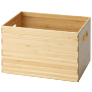 重叠的竹木材长方形箱 / 约宽26×深18×高16cm