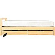 松木床下收纳盒 / 自然色 / 长94×宽62.5×高18cm
