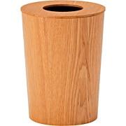 水曲柳垃圾箱/附盖 约直径23.5×高30cm