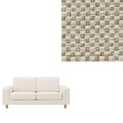 棉涤纶编织沙发套/宽扶手/米色 2人座用