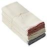 落棉抹布 12块一组 带彩色边缘 约40×40cm / 生成色