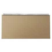 再生纸笔记本(付日程表) 350×170mm / 黄土颜色X白色