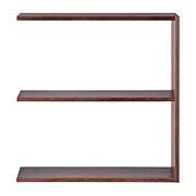 组合式木架宽型 / 2层追加件 / 核桃木 / 宽79.5×深28.5×高81.5