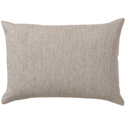 麻平织枕套 43×63cm用 / 生成×黑色