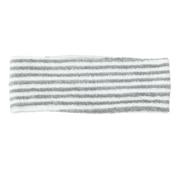 头发头巾 细 约22×宽7.5cm / 灰色条纹