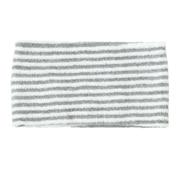 头发头巾 粗 约22×宽12cm / 灰色条纹