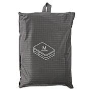 滑翔伞梭织布可折叠旅行用收纳包 两层型 中 约26×40×10cm / 灰色
