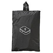 滑翔伞梭织布可折叠旅行用收纳包 小 约20×26×10cm / 黑色