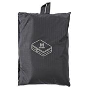滑翔伞梭织布可折叠旅行用收纳包 两层型 中 约26×40×10cm / 黑色