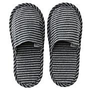 棉天竺薄型拖鞋 23-27cm / 麻海军蓝×麻灰色