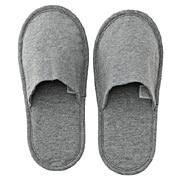 棉天竺薄型拖鞋 23-27cm / 麻灰色