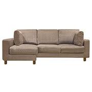 屋角沙发/棉聚酯纤维编织外套/付脚套组/棕色/约228x156x92cm