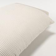 棉天竺被套 K 230×210cm用 / 混米色条纹
