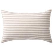 棉天竺枕套 43×63cm用 / 混米色条纹