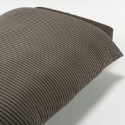 棉天竺被套 Q 210×210cm用 / 混棕色条纹